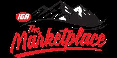 A theme logo of Brushy Mountain and Rock Creek IGA